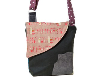Waxed Crossbody bags, Crossbody handbag for women, Wax travel bag, Animal print, Bags for walkers, Gifts for women, Handbag, Crossbody bags,
