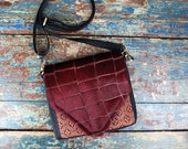 NEW Leather Travel Bag Cross Body Shoulder Bag for Iphone 6 Plus Camera Accessories Messenger Burgundy Cow Hair