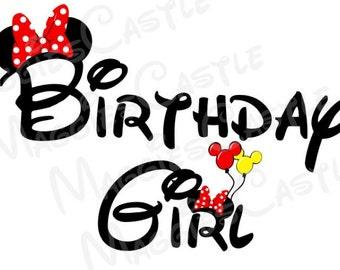 VINYL DecaL - DIY Iron On - Birthday Girl