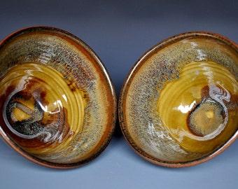 Pair of Ceramic Miso Soup Bowls Pottery Bowls