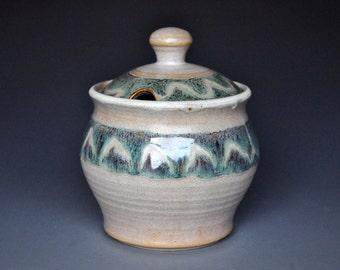 Ceramic Pottery Honey Jar. Sugar Bowl A