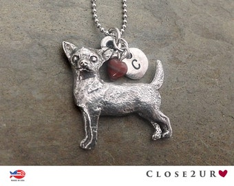 Close 2UR Heart - Chihuahua Necklace