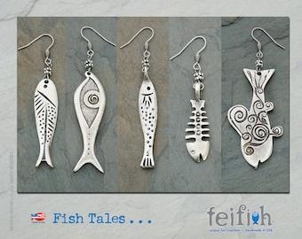 Modern Fish Earrings