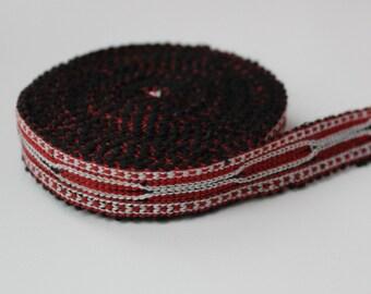 Uzbek cotton woven trim Jiyak. Ethnic Boho, Hippy trim
