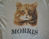 Vintage MORRIS The Cat 9 Lives Cat Food Commercial 9live kitty cat lover soft thin T shirt L