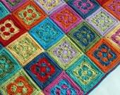 UK Terms Groovin' Crochet Blanket  PDF Crochet Pattern