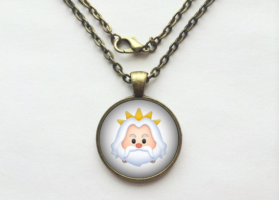 King Triton from The Little Mermaid Tsum Tsum Necklace or Keychain