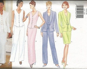 Butterick 4781 Misses Pants, Skirt, Jacket, Top Pattern SZ 6-10