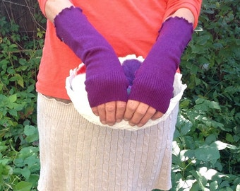 Upcycled Fingerless Arm warmers