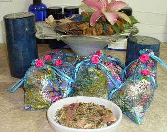 6 - HERBAL CLOSET & DRAWER Sachets - Fresh Herbal Fragrance - All Natural Moth and Insect Repellant