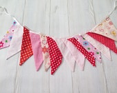 Christmas decor, christmas decoration, birthday bunting , fabric bunting banner , party banner , long fabric banner , christmas flags