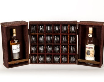 Oak Advent Liquor Cabinet