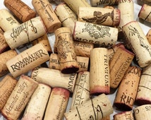 50 Wine Corks Craft Supplies Wedding Favors Natural Cork Red Wine
