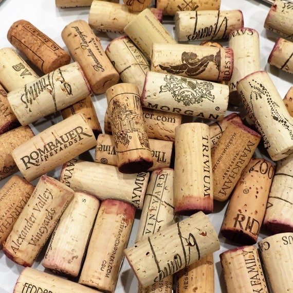 Cork Crafts For Weddings: 25 Wine Corks Craft Supplies Wedding Favors Natural Cork Red