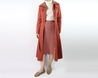 VINTAGE Trench Coat Belted Cinnamon