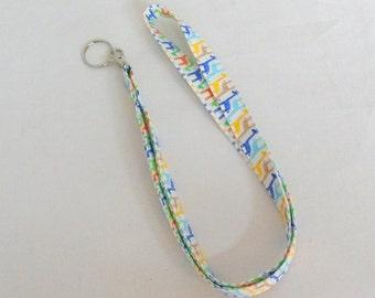 Handmade Fabric Lanyard Badge Holder Key Ring Giraffe Fabric Lanyard  Key Ring ID Holder  Teacher Gift Medical Staff Gift Idea