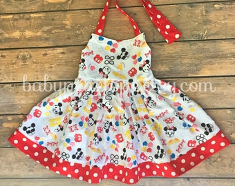 The Marilyn Dress - Mickey and Minnie Mouse - Disney Outfit for Girl - Disney Cruise Outfit for Girl - Mickey and Minnie Dress