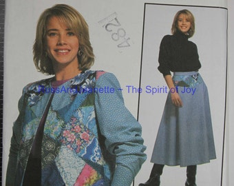 SIze 8 10 12 14 16 18 Simplicity 7853 Jacket Skirt Retro Vintage Fashion by Leslie Levison  Womens Misses  Uncut Sew Sewing Pattern
