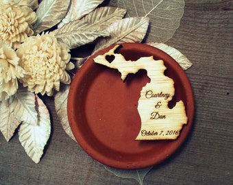 75 Michigan State Wedding Favors Custom Engraved