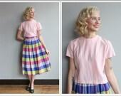 1940s Blouse // Pale Pink Silk Blouse // vintage 40s blouse