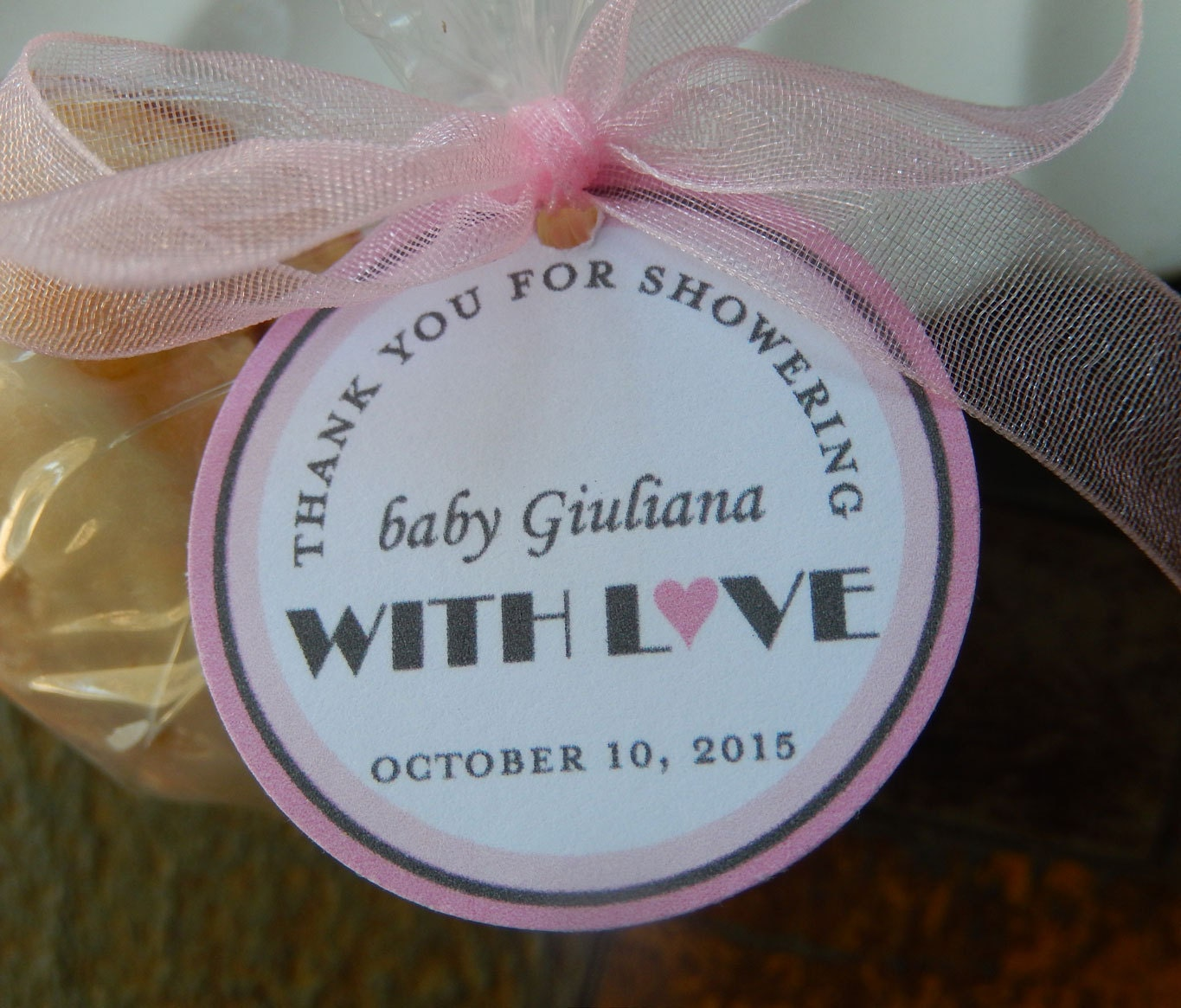 Baby Shower Thank You Favor Tags For Cake Pops Lollipops