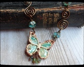 Pottery Butterfly Necklace Choker
