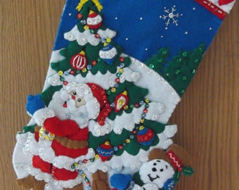 Pick a Tree felt stocking