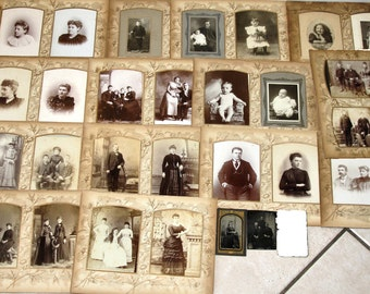 Cabinet Card Photo Lot + Two Tintypes ~ Some from Blue Earth City Minnesota