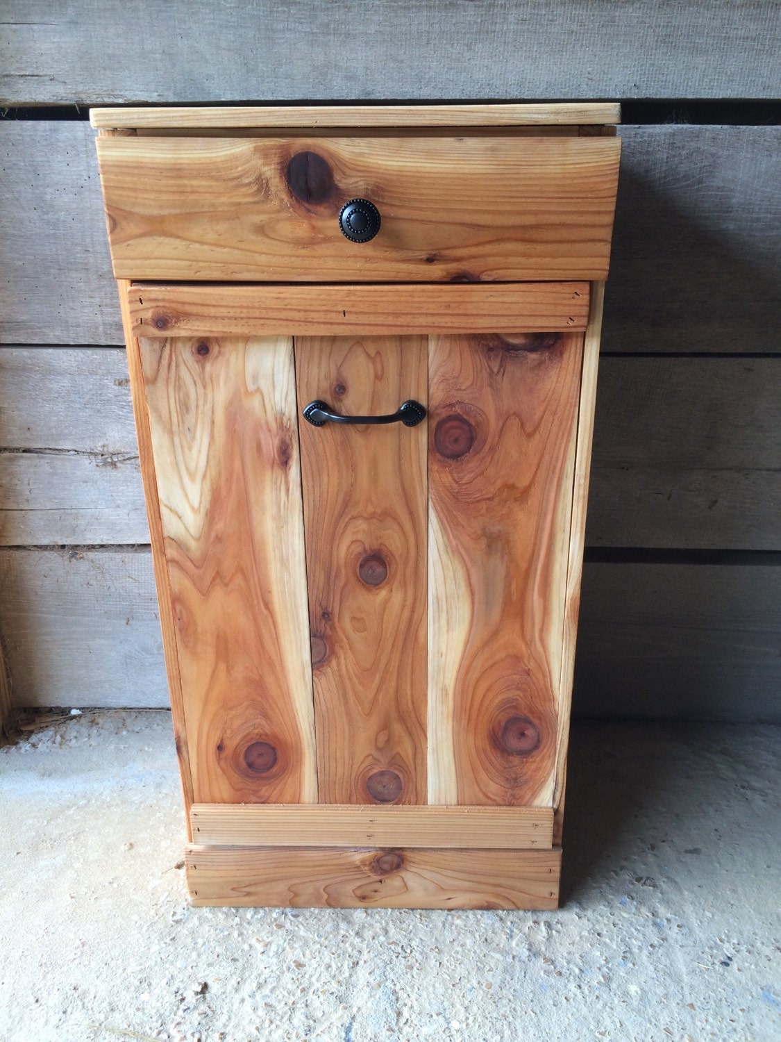 Tilt Out Trash Bin Farmhouse Trash Can Cabinet By