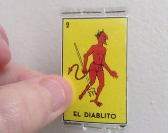 El Diablito Pocket Talisman - Pocket Amulet - Mexican Wallet Saint - Wallet Amulet - Loteria - Alter - Devil