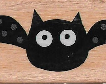 Bat Stamp  --  NEW  -- Wood Mounted Rubber Stamp  --  Studio G Brand  --  (#1439)