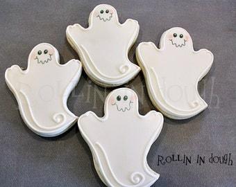 Halloween Cookies, Ghost Cookies - 1 Dozen