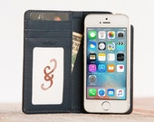 The Bella Fino wallet case for iPhone 5/5S/SE - Chocolate Blue