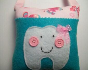 Tooth Fairy Pillow Girls Butterflies tooth fairy pillow, girls tooth fairy pillow, toothfairy pillow