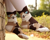 Camo/Calico Cat Socks
