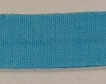 """Ribbon, 100% Organic Cotton, Sold by the Yard, 7/8"""" Wide, Hand-dyed, Cornflower"""