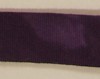 """Ribbon, 100% Organic Cotton, Sold by the Yard, 7/8"""" Wide, Hand-dyed, Eggplant"""