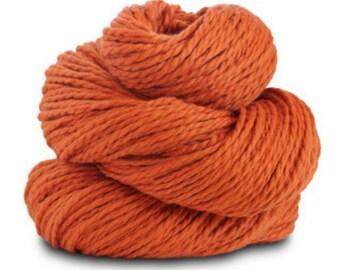 Organic Cotton Yarn Worsted, 150 Yards, Pumpkin