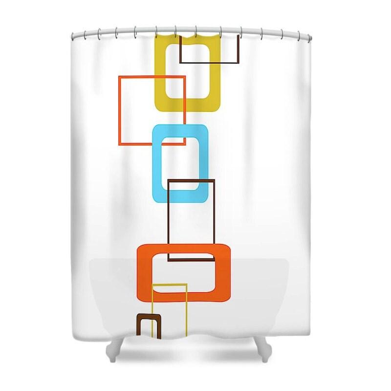 Modern Shower Curtain Mod Shower Curtain Mid Century Modern