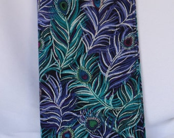 Peacock Feather Checkbook