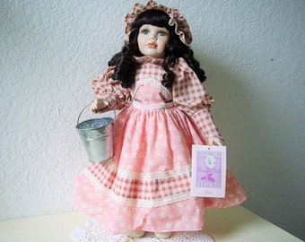 Porcelain doll, Collectible Memories. Made especially for Kmart, 1990s. 16 inch, Displayed Only.