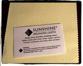 "Sunshine polishing cloth- The best 5"" x 7.5"""