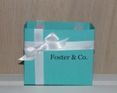 Medium Blue Personalized Name & Co. Gift Bags Set of 5