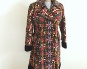 ON SALE Vintage, 1960, Jr Junction, Tapestry, Boho Chic, Tapestry, Mid Weight, Fall, Jacket, Winter, Pea Coat, Womens Size Small