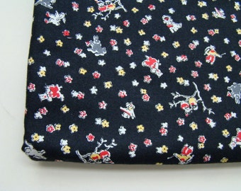 Hopscotch by Chloe's Closet Fabric for Moda, 1930's Reproduction Bunnies, Birds and Flowers Fabric, OOP, HTF