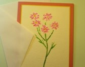 """MOTHER'S DAY CARD, Original Handmade Watercolor (""""Happy Mother's Day"""" Inside)"""