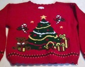 Vintage Child's 4/5 80's / 90's UGLY SWEATER CONTEST, Retro Christmas Sweater, Kids Studio Sweater Party nwt
