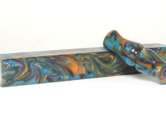 "Resin / Acrylic Pen Blank ... ""Coral reef"" 64"