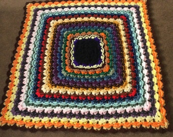 Sale Afghan granny square color many colors