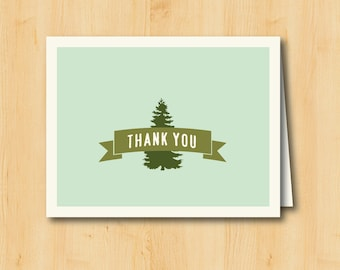 Thank You Card - Printable  - Forest
